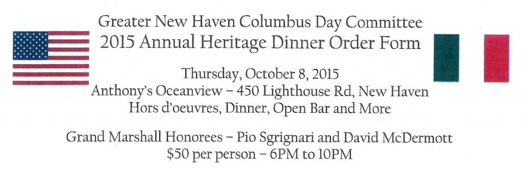 Columbus Heritage Dinner Ticket 2015